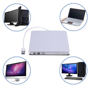 USB 3.0 External DVD/CD-RW Drive Burner Slim Portable Driver For Netbook MacBook Laptop PC - intl Price Philippines