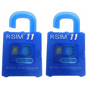 Harga R-SIM RS-11 11 The Best Unlock and Activation SIM for iPhone 4S/5/5C/5S/6/6Plus/7/7Plus (Gold) Set of 2