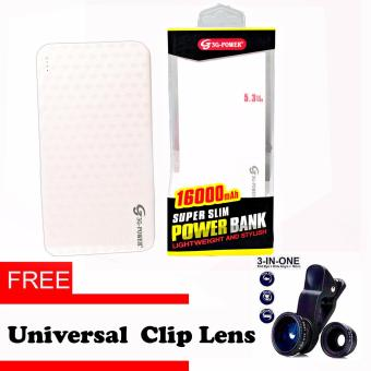3G Super 16,000 mah Slim Power Bank with Free Universal Clip Lense Price Philippines