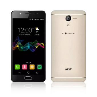 Harga CloudFone Next 32GB (Gold) with Free Jelly Case, Faux Leather Flip Case and Screen Protector