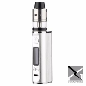 Power Geek Ultra 80 TC Box Mod Dual RDTA Atomizer Tank Full Vape Kit Built-in Battery (Silver) Price Philippines