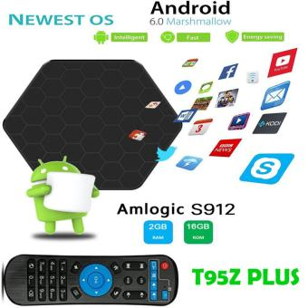 Harga T95Z Plus Plus+ 3GB 32GB Amlogic S912 Android TV Box Android 6.0 4K H.265 2.4G 5G Dual Band WiFi Smart TV BOX Android IPTV Box
