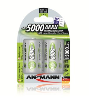 Ansmann NiMH-LSD D 5000mAh x2 Blister Pack Rechargeable Battery Price Philippines