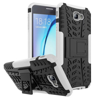 BYT Rugged Dazzle Case for Samsung Galaxy On7(2016) / J7 Prime with Kickstand (White) Price Philippines
