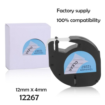 Befu 12*4MM Label Tape Great Stability Label Tag Tape Suitable For Dymo LetraTag - intl Price Philippines
