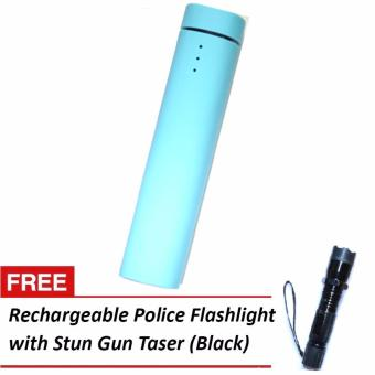 Rich 4,000mah powerbank with built-in speaker and stand (blue) with free 1101 stun gun taser flashlight Price Philippines