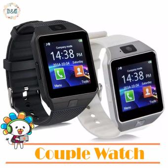 Harga D&D Couple Watch DZ09 Bluetooth Touch Screen Smart Watch with Camera (Black/White)