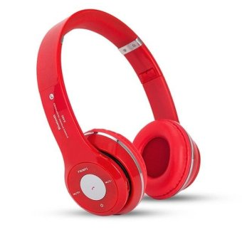 Harga S460 Wireless Bluetooth 3.0 Stereo Headphone Headset Earphone (Red) - intl