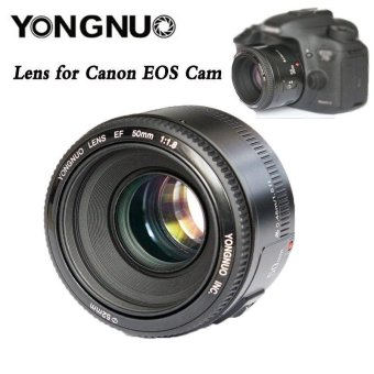 Harga YN50mm F/1.8 AF/MF Standard Prime Lens for Canon 70D 6D EOS Rebel Camera - intl