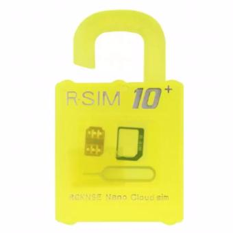Harga R-SIM RS-10 10+ The Best Unlock and Activation SIM for iPhone 4S/5/5C/5S/6/6 Plus(Gold)