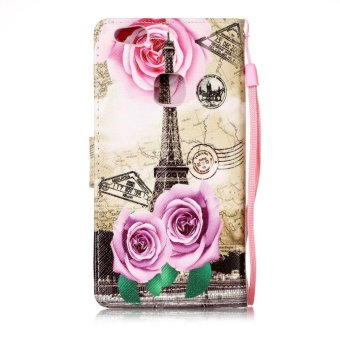 Harga Printed lanyard Flip Leather Case For LG V20(Flower tower) - intl