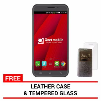Harga QNET Mobile Jomax 8GB (Tarnish) with FREE Leather Case and Tempered Glass