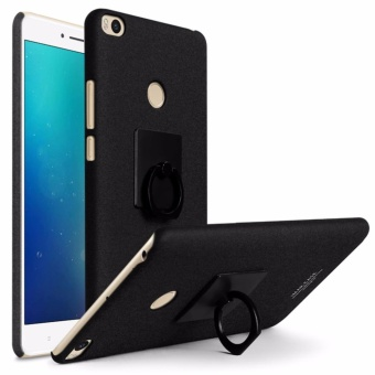 Imak Hard PC Matte Cowboy Phone Case for Xiaomi Mi Max 2 Back Cover + Ring Holder - intl