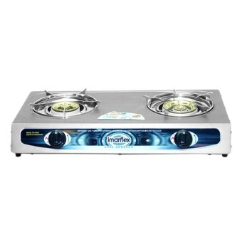 Imarflex IG-299 2 Burner Gas Stove (Silver) - picture 2