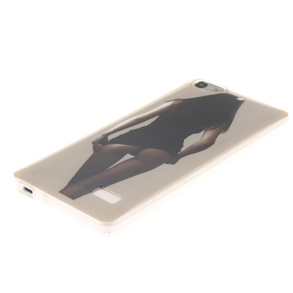 IMD Soft TPU Gel Phone Back Shell for Huawei Honor 4C - Hot .