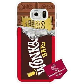Imminent Compact (C) Charlie and the Chocolate Factory Willy WonkaBar Golden Ticket Samsung Galaxy S6 Edge + Plus Case White HardPlastic 264 - intl Price Philippines