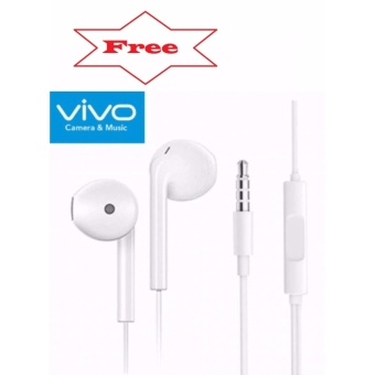 In-Ear Headphone For Iphone Set Of 2 (Gold) With Free Vivo In-EarWired Headset Earphone (White) - 2