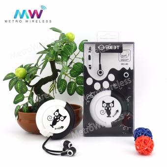 In-Ear Headset Earphone With Storage Box MC-95 (Black) Price Philippines