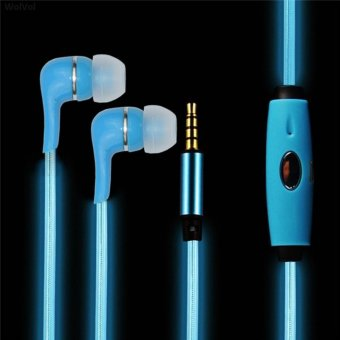 In-ear LED Light Flashing Pulse Glow Sport Earphone 3.5mm Glowing Cable Headset with Mic Luminous Earpiece for Mobile Phone - intl