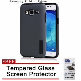 Incipio TPU Back Case Cover for Samsung Galaxy J1 Mini Prime (Grey)with Free Tempered Glass Screen Protector