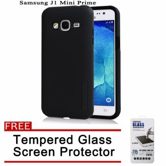 Incipio TPU Back Case Cover for Samsung Galaxy J1 Mini Prime(Black) with Free Tempered Glass Screen Protector