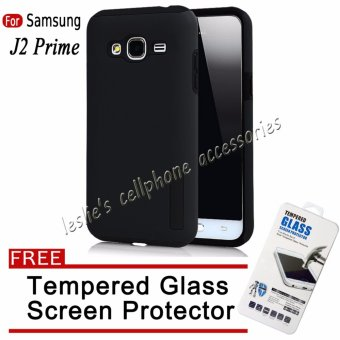 Incipio TPU Back Case for Samsung J2 Prime (Black) with FreeTempered Glass Screen Protector