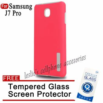 Incipio TPU / PC Case for Samsung Galaxy J7 Pro with Free temperedglass(Pink)