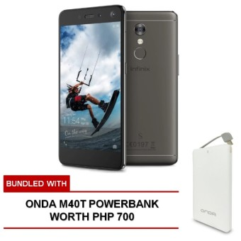 Infinix S2 Pro 32GB (Quarts Black) bundled with FREE Onda M40T Powerbank worth Php 700 Price Philippines