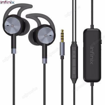 Infinix XE02 Headphone Dual Noise Cancellation Headphone (Black)