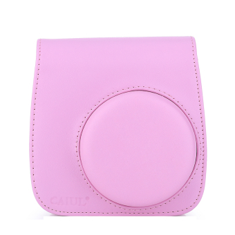 Instax Mini 8 Leather Camera Case Shoulder Bag Cover For Fuji Polaroid (Pink) - Intl - 2