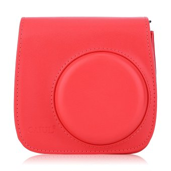 Instax Mini 8 Leather Camera Case Shoulder Bag Cover for Fuji Polaroid (Red) - Intl