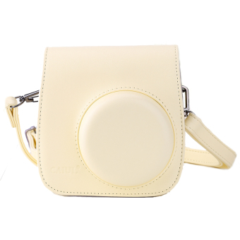 Instax Mini 8 Leather Camera Case Shoulder Bag Cover For Fuji Polaroid (Yellow) - Intl