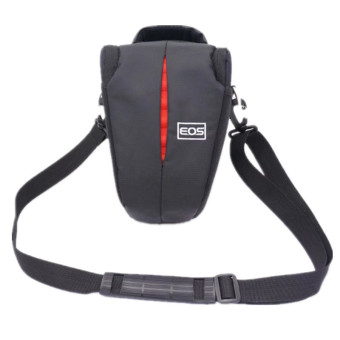 Inverted Triangle SLR DSLR Camera Sholder Bag for Canon AdjustableStrap For Canon DSLREOS 1300D 1200D 1100D 760D 750D 700D 600D 650D550D 60D 70D SX50 SX60 SX30 T5i T6i 100D - intl