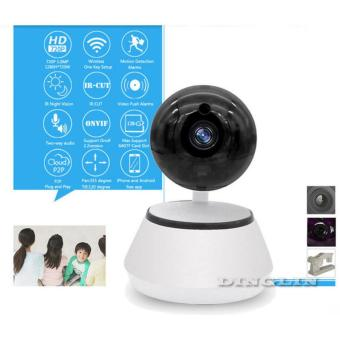 IP Camera 720p CCTV Security Mini System Wifi Home Wireless Spy CamHD (Black&White)