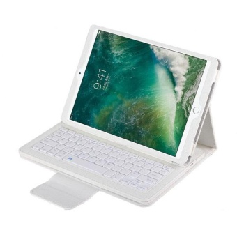 iPad Pro 10.5 2017 Keyboard Case,PU Leather Case Cover Bluetooth Keyboard For Apple iPad Pro 10.5 (2017 Release)-White - intl