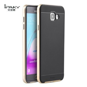 iPaky Slim TPU+PC Shockproof Hybrid Case for Samsung Galaxy A7A7100 2016 (Gold)