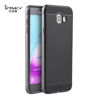 iPaky Slim TPU+PC Shockproof Hybrid Case for Samsung Galaxy A7A7100 2016 (Grey)