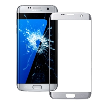 IPartsBuy For Samsung Galaxy S7 Edge / G935 Front Screen OuterGlass Lens(Silver)