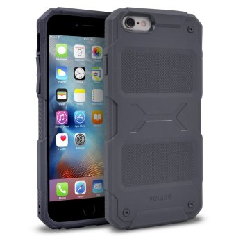 iPhone 6S Plus/6 Plus Ringke REBEL Anti-Slip Rugged ShockAbsorption Bumper Case (Gray)