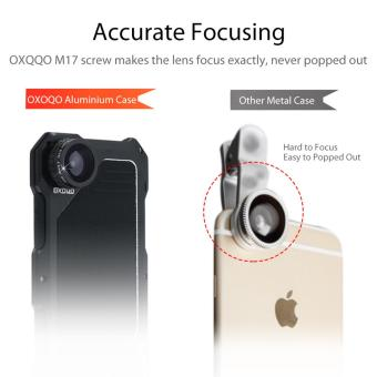 IPhone 7 Camera Lens Kit, OXOQO 3 In 1 202? Fisheye Lens + 18XMacro Lens + Wide Angle Lens With Dustproof Shockproof AluminumCase, Separate Screen Protector Included(Black) - intl - 2