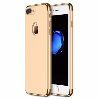 iPhone 7 Plus Case,GiMi Stylish Slim Hard Case with 3 Detachable Parts for Apple iPhone 7, CHROME GOLD and MATTE BLACK, [CLIP-ON] - intl