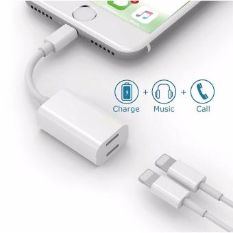 iPhone 7 Splitter & Lightning Splitter iPhone 7 Adapter Dual Lightning Adapter Headphone Jack Audio and Charge Cable Adapter for iPhone 7 / 7 Plus (Suport iOS 10.3 and later) LYBALL