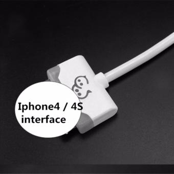 Iphone4 / 4S Mobile phone charging data line color light 1.8metersUSB cable SEPTWOLVES L68