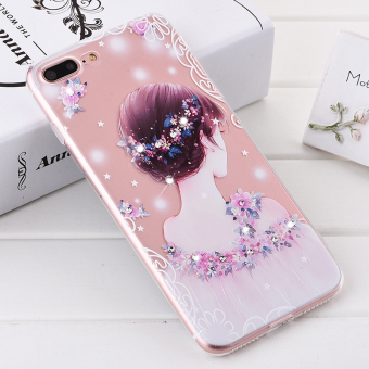 Iphone5/7plus relief ultra-thin soft silicone Apple protective case phone case