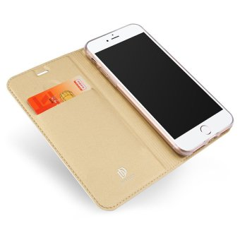 Iphone7P New Crashproof Flip Leather Magnet Phone Case for iPhone 7Plus (Gold) - 3