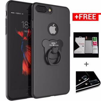 Iphone7P New Phone Case Hard Cover Back Cover with A Bear Ring Holder for iPhone 7 Plus