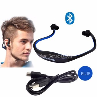Iwoo Sports Wireless Bluetooth Headset Headphone Earphone for CellBlue