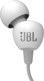 JBL C100SI In-Ear Headphones with Mic (White) - intl