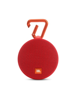 JBL Clip 2 Portable Bluetooth Speaker (Red)