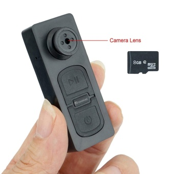 JDM 8GB Pocket Hidden Camera Clothes Button Mini DV Camcorder Video Recorder with Voice Recording - intl